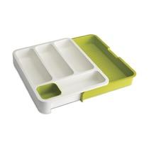 Органайзер для столовых приборов Drawerstore, бело-зеленый