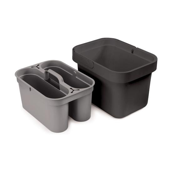 Ведро со съемным контейнером Clean & Store, серый