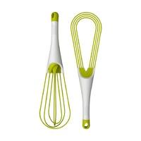Венчик складной 2-в-1 Twist, бело-зеленый