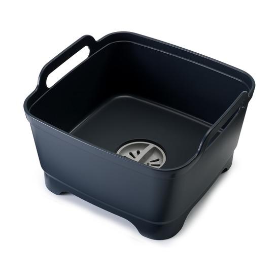 Контейнер для мытья посуды Wash & Drain, серый