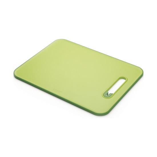 Доска разделочная с ножеточкой Slice & Sharpen, малая, зеленая