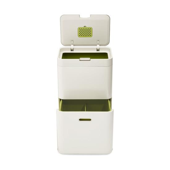 Контейнер для сортировки мусора Totem, 48 л, белый