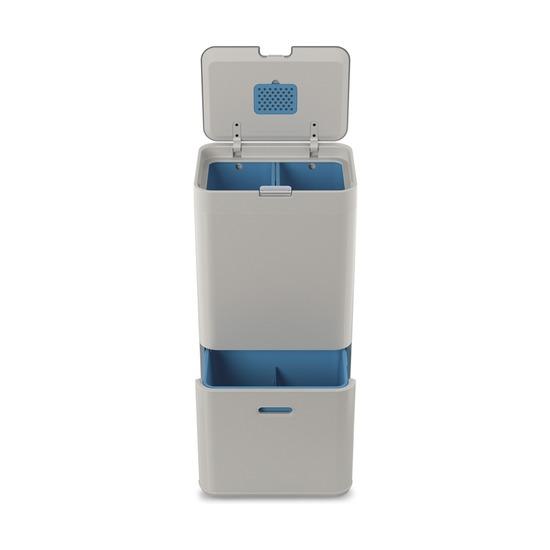 Контейнер для сортировки мусора Totem Recycler, 58 л, белый