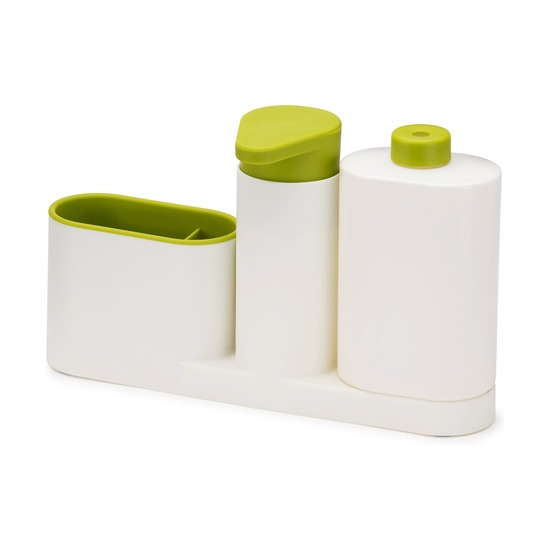 Органайзер для раковины Sinkbase Plus, бело-зеленый