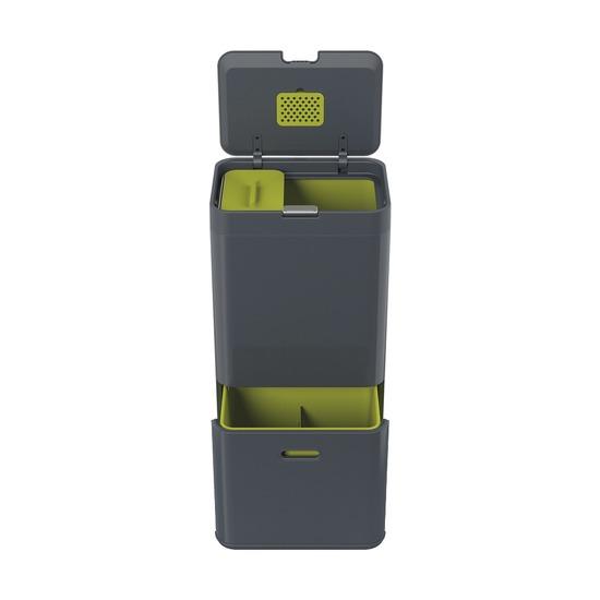 Контейнер для сортировки мусора Totem, 60 л, графит