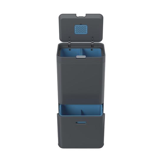 Контейнер для сортировки мусора Totem Recycler, 58 л, графит