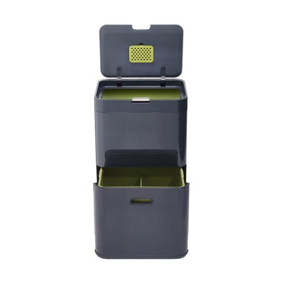 Контейнер для сортировки мусора Totem, 48 л, графит
