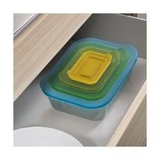 Набор из 4 стеклянных контейнеров Nest