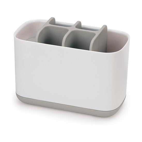 Органайзер для зубных щеток EasyStore, большой, бело-серый