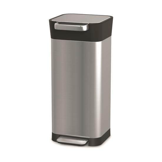 Контейнер для мусора с прессом Titan, 20 л, нержавеющая сталь