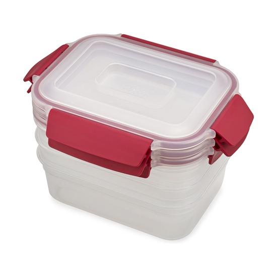 Набор из 3 контейнеров Nest Lock, 1,1 л, красный