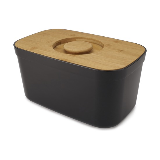 Хлебница с разделочной доской, чёрная