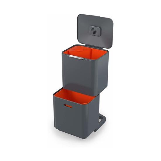 Контейнер для мусора с двумя баками Titan Totem, 60 л, графит