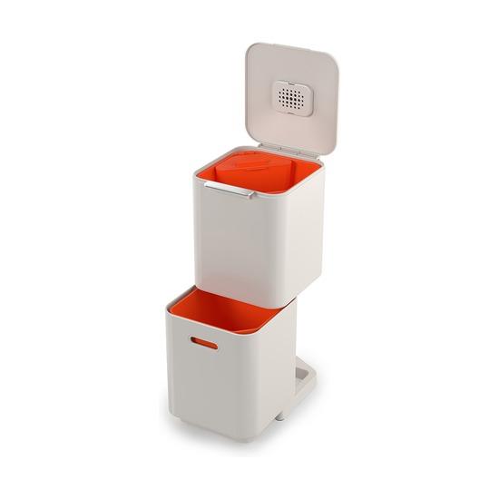 Контейнер для мусора с двумя баками Totem Compact, 40 л, белый