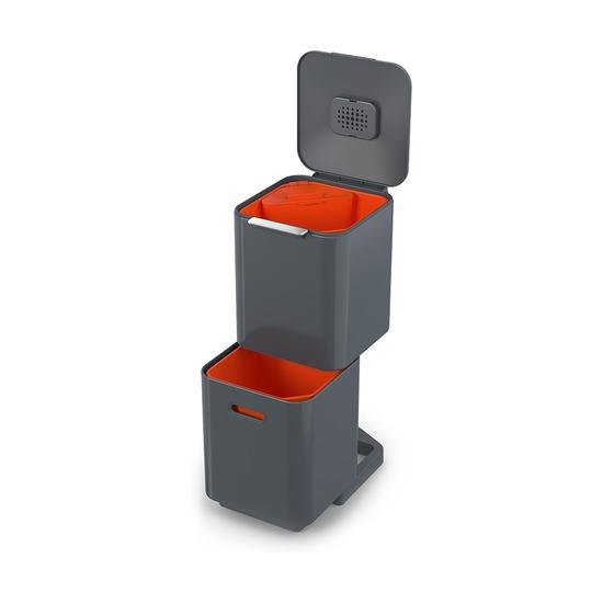 Контейнер для мусора с двумя баками Totem Compact, 40 л, графит