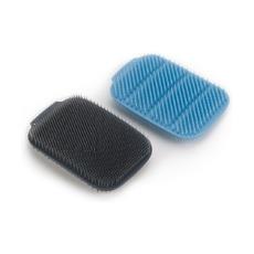 Набор из 2 малых щеток для мытья посуды CleanTech, синий/серый