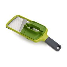 Терка с держателем для продуктов Mandoline, зеленая