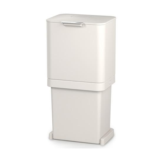 Контейнер для мусора с двумя баками Totem Pop, 60 л, белый