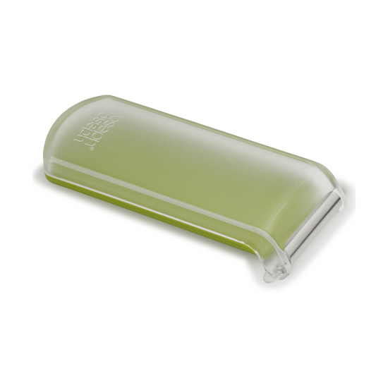 Овощечистка с горизонтальным гладким лезвием и емкостью для очисток Peelstore, зеленая