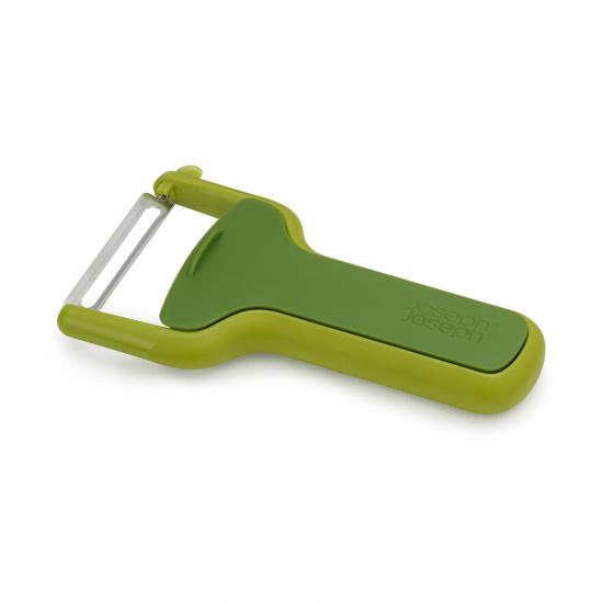 Овощечистка с горизонтальным гладким лезвием Safestore, зеленая