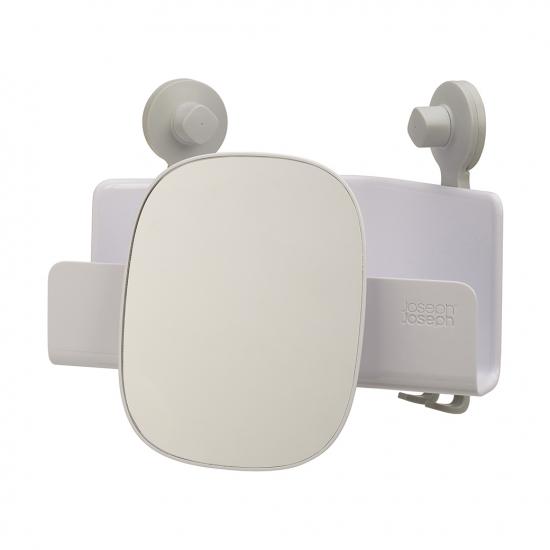 Органайзер для душа с зеркалом Easystore, угловой, белый