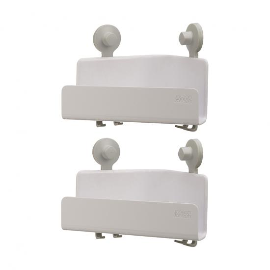 Набор из 2 угловых органайзеров для душа Easystore, белый