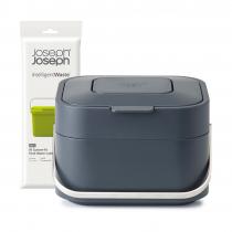 Контейнер для пищевых отходов Stack 4, черный и пакеты для мусора Food Waste, 50 шт.