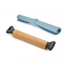 Коврик для теста с разметкой Roll-Up и скалка Grip Pin